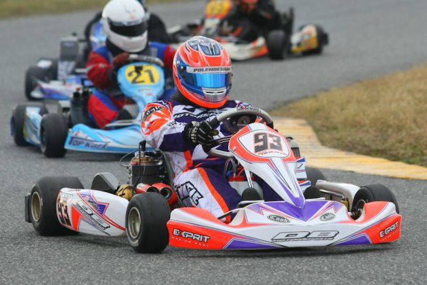 McHattie ran away with victory in both TaG Masters Finals at WKA Daytona KartWeek (Photo: Sean Buur - Go Racing Magazine)