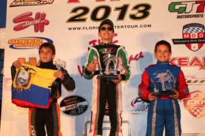 Anthony Gangi Jr. celebrates on the podium for his Rotax Mini Max victory in West Palm Beach  (Photo: INTL-KartingMedia.com)