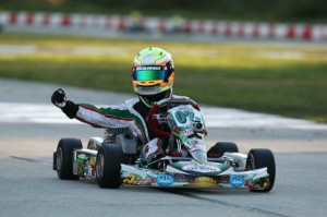 Anthony Gangi Jr. celebrates his victory at the Palm Beach International Raceway during the opening weekend of the Florida Winter Tour Formula Kart weekend (Photo: GangiJr.com)