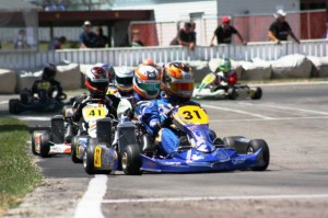 Defending class champion Daniel Kinsman (31) was the winner of the Right Karts 125cc Rotax Max Light class (Photo: Fast Company - Leith Roberston)