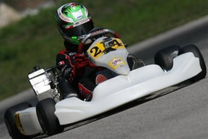 Mazzaferro completes an excellent drive in the FWT Palm Beach Sunday Final to score a fourth place finish (Photo: International Karting Media)