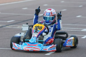 Chase Farley escaped the final few laps with the lead and victory in Mini Max (Photo: Sean Buur - Go Racing Magazine)