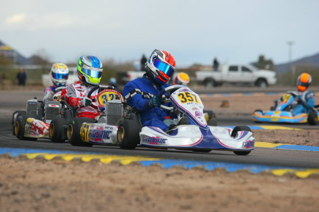 Challenged early in the main event, Phillip Arscot prevailed with the Senior Max victory (Photo: Sean Buur - Go Racing Magazine)
