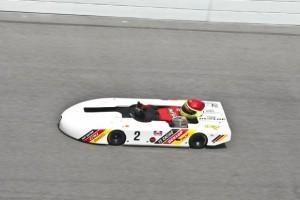 Randy on the Daytona high-banks this year (Photo: Sean Buur - Go Racing Magazine)