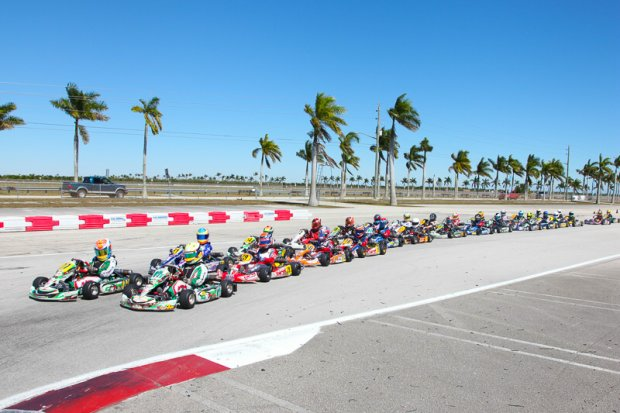 TaG Cadet heading to the green flag (Photo: Ken Johnson - Florida Winter Tour)