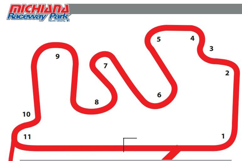 Michiana Raceway Park-layout