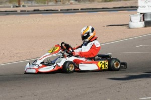 Brenden Baker in Rotax Junior