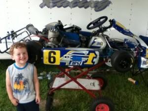 My son Aden enjoying his second trip to Grattan Raceway
