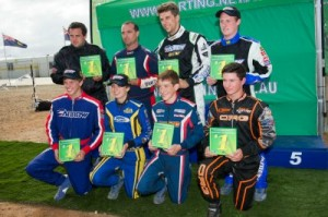 The winners at the 2013 Australian National Sprint Kart Championships (Photo: AF Images-Budd)