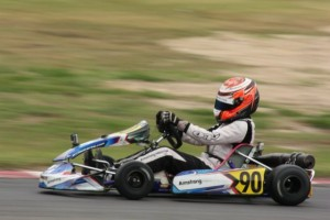 Young Christchurch driver Marcus Armstrong was one of the class winners at the first round of the 2013 Mainland (Kart) Series in Christchurch on Sunday (Photo: Fast Company-Leith Robertson)
