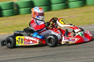 Grant Quinlan wheeling his MRP Birel at Carolina Motorsports Park in April (Photo: NCRM)