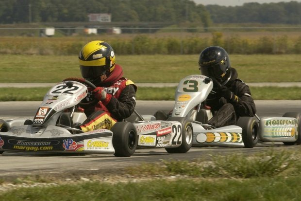 Conor Daly and Josef Newgarden at a New Castle Motorsprots Park KRA race during their early karting years (Photo: davidleephoto.com)