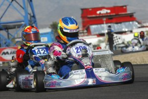 Blaine Rocha scored the victory in TaG Junior on Saturday (Photo: On Track Promotions - otp.ca)
