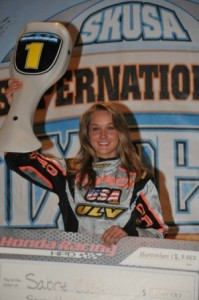 Sabré Cook is ready to add to her impressive young resume during the 17th edition of the Superkarts! USA SuperNationals in Las Vegas  (Photo: On Track Promotions - otp.ca)