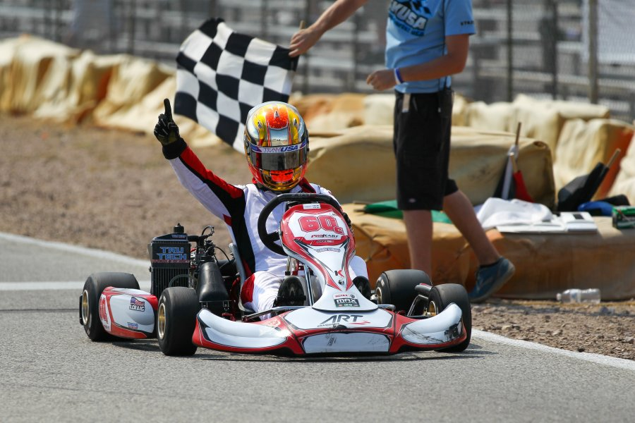 Jake Craig took his third checkered flag of the season in TaG Senior (Photo: dromophotos.com)