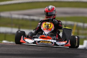 Luc Sauriol began his DD2 Masters championship bid with two podium results (Photo: PSL Karting)