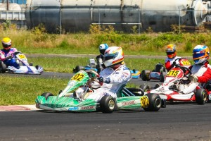 Rotax Senior championship leader Stepanova Nekeel kept his position following a sweep on Sunday (Photo: Sean Buur - Can-Am Karting Challenge)