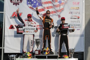 Alan Rudolph and Rene Martinelli made it two PSL/CRG drivers on the DD2 Masters podium, and both will once again be part of Team USA at the Rotax Max Challenge Grand Finals (Photo credit: Ken Johnson - Studio52.us)