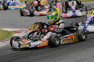 Joshua Sirgany started the Mini Max prefinal on the front row, eventually posting seventh in the main event (Photo credit: Ken Johnson - Studio52.us)