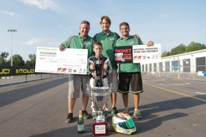 Dylan Tavella left Mooresville the US Micro Max Champion with ticket in hand to compete in the Micro & Mini Invitational during the Rotax Max Challenge Grand Finals (Photo credit: Ken Johnson - Studio52.us)