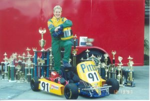 Kimball and his family were a regular site at karting tracks throughout California