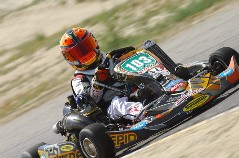 Campbell drove to a weekend sweep in S5 at the SKUSA SummerNationals (Photo: On Track Promotions - otp.ca)