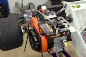 Briggs and Stratton LO206 engine getting prepped on Howden's Exprit