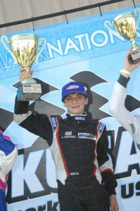 Versteeg celebrates his first SKUSA Pro Tour victory in the TaG Junior category (Photo: On Track Promotions - otp.ca)
