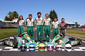 The entire Summit GP team showed speed at the 2013 Canadian Karting Championships (Photo: summitgpkarting.com)