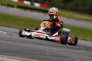 US Rotax DD2 Masters National Champion Alan Rudolph was victorious in Coupe du Quebec action on Saturday (Photo: PSL Karting)