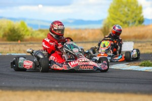 Steve Perdue won his first event of the season in S4 Master Stock Moto, backing it up the following day (Photo: Sean Buur / Can-Am Karting Challenge)