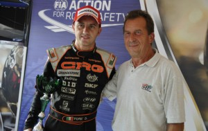 David Fore awarded by the Varnenes' Circuit owner Jean-Jacques Pendent, as the winner of the Superpole KZ