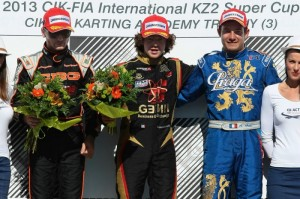 KZ2 podium with winner Dorian Boccolacci