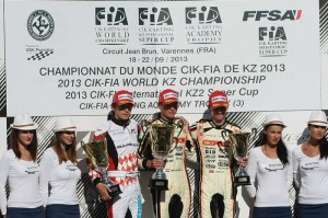 Verstappen atop the KZ podium (Photo: Cuna Photo)