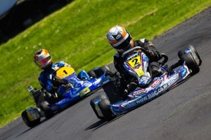 Daniel Connor (#2) was the Platinum Glass 125cc Rotax Max Light round winner at Auckland but it was Daniel Kinsman (#1) who claimed the second Senior spot on the NZ team heading to the Grand Finals in the US in November. (ProShotz/Owen de Mooy)