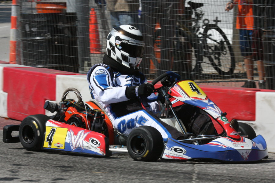 Cole piloting the Victory Kart / LO 206 around the Rock Island Grand Prix (Photo: Joe Brittin)