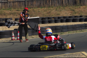 Phillippe Denes capped off a terrific weekend in Sonoma as he scored a main event wins in both TaG  Junior as well as Rotax Junior