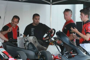 The DRT Racing operation welcomed Danilo Rossi (left) to the United States, helping to develop the DR Racing Kart models for 2014
