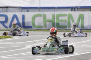 Karol Basz (TonyKart-Votex-Vega) finished third in his first heat race, and won his second of the day.