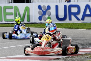 Leonard Pucini (TonyKart-Votex) scored the KFJ win in Sarno