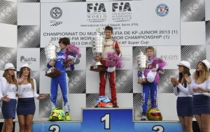 Leonard Pulcini standing a top the KFJ podium in Sarno.