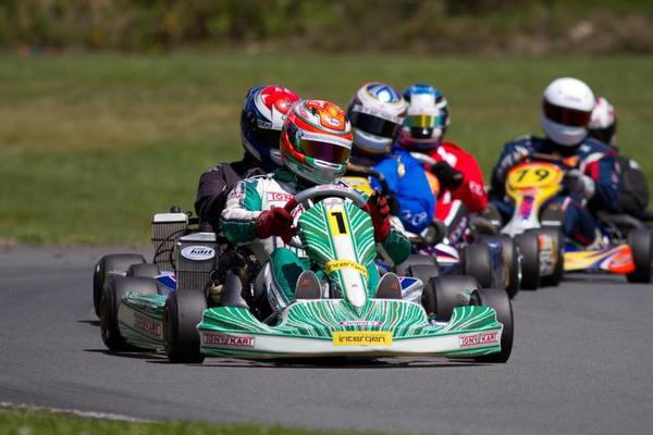 Zach Zaloum scored the win in 125 Rotax Max Heavy  (Photo: Fast Company/Jordan Moss)