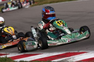 Nicholas d'Orlando was a fixture in the top five of the Rotax Micro Max field  (Photo: d'Orlando racing