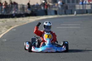 After battling for the lead early on in the main event, Lile was victorious in Rotax Senior. (Photo: www.dromophotos.com)