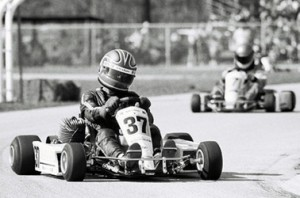 One of the first world titles to be decided on US soil was the 1986 Formula K World Karting Champion, won by Brazilian Augusto Ribas (Photo: CIK-FIA)