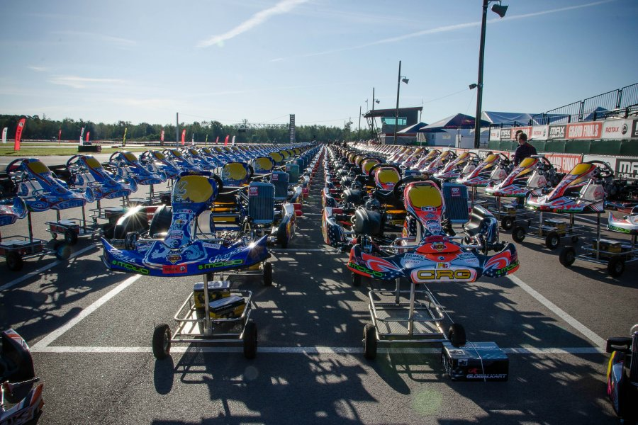 288 karts ready for competition at NOLA Motorsports Park (Photo: BRP)
