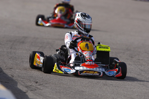 Pulling double duty, Xen De Ruwe left Sin City with top-ten results in both Rotax DD2 and KZ2 (PSL Karting)