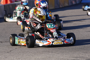 Abdul Gafar Muizz powered to a second place podium result in TaG Cadet, the largest class in Las Vegas (PSL Karting)