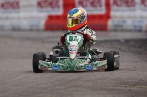 Michael d'Orlando scored a heat race win at the SKUSA SuperNationals (Photo: d'Orlando Racing)