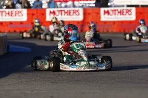 Nicholas d'Orlando led the Rotax Micro Max Invitational on the final lap but came home fifth. A big improvemnt from 2013, Nicholas came home 8th in the TaG Cadet main event (Photo: d'Orlando Racing)